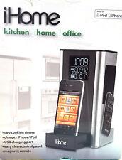 iHome iP39 Radio Réveil de cuisine pour iPod/iPhone Argent