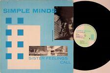 SIMPLE MINDS- SISTER FEELINGS CALL LP (1981 Album Vinyl EX-) Jim Kerr OVED2