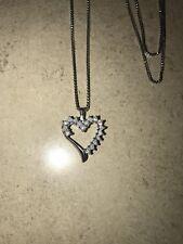 Helzberg Diamonds Sterling Silver Heart Pendant Necklace