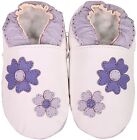 shoeszoo purple flowers white 12-18m S soft sole leather baby shoes
