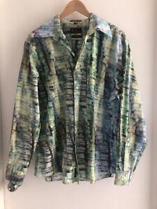 Mens XXL Ben Sherman Special Brew Retro dyed look Long Sleeve Shirt