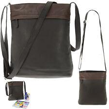 Handtasche CININO 2 SHADE Ledertasche Leder Schultertasche 1465 Tasche SCHWARZ