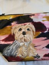 Hand Painted yorkshire terrier yorkie New cosmetic bag