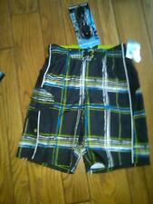 NWT BOYS JOE BOXER SWIM TRUNKS BOARD SHORTS BOLD PRINT & SWM GOGGLES SZ 8 UPF 50