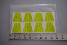 "Fluorescent Lime REFLEXITE 2"" Firefighter Helmet Tetrahedrons (Qty:8), #TE15"