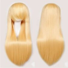 Cosplay Wig Remy Heat Resistant Synthetic Hair Pink Purple Anime Full Wig Wavy s