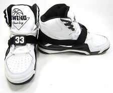 Ewing Shoes 33 Hi Leather Athletic Sports White/Black Sneakers Size 11 EUR 44.5