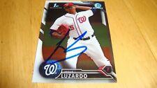 Jesus Luzardo IP Autographed Auto signed 2016 Bowman 1st chrome card