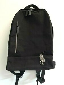 NEW POLO RALPH LAUREN Fragrances Black Backpack Big Pony Travel Gym Weekend Bag
