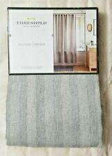 Threshold Gray Herringbone Stripe Shower Curtain