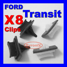 FORD TRANSIT FRONT WINDSCREEN A PILLAR SIDE TRIM CLIPS V184 X 8 CLIPS PLASTIC