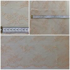 FLORAL LACE (BEIGE) WITH SCALLOP EDGE (23CM WIDE) | £5 PER METRE