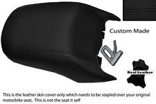 Negro Stitch Personalizado Para Bmw R 1200 Rt pasajeros traseros real de piel cubierta de asiento
