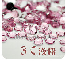 Wholesale 2000 pcs Crystal Rhinestone Silver Flat Back Diamante Acrylic Gems 5mm