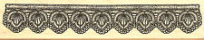 Lace Crochet Border #1 Wood Mounted Rubber Stamp Impression Obsession E13096 NEW