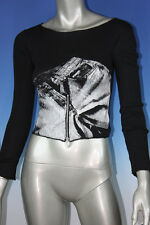 DKNY Jeans Women's Black Stylish Blouse Top with front zipper - size XS