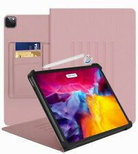 Ipad case For Pro11, (2018&2020)Tablet Folio With Minimalist Pocket-Rose Gold