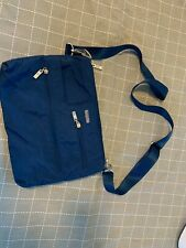 Navy Blue Baggallini Medium Crossbody Bag with Silver Zips and Double Pockets!!