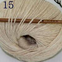 Hot 1ballx50g 100% Pure Sable Cashmere Hand Yarn Shawls Wrap Crochet Knitwear 15