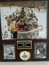 Pittsburgh Penquins 2017 Stanley Cup Champions Team Hockey Plaque, Crosby MVP