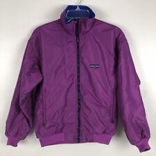 Patagonia Womens Bomber Jacket Vintage Coat Fleece Lined Purple USA Made