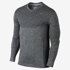 Nike Flex Knit V-Neck Men's Golf Shirt 726582 012 Grey Size Medium (M) NWT