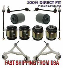 JAGUAR S-TYPE REAR CONTROL ARMS BALL JOINT TIE ROD HYDRABUSHES SUSPENSION KIT 12