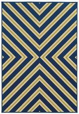"""2'x4' Sphinx Geometric Blue Chevron Lines 4589L Door Mat - Aprx 2' 5"""" x 4' 5"""""""