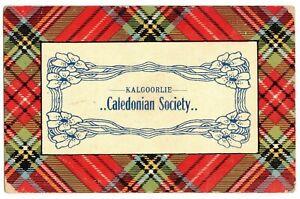 WESTERN AUSTRALIA-KALGOORLIE 1911 CALEDONIAN SOCIETY  Post Card