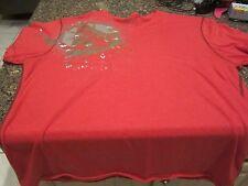 Marc Ecko V-Neck T-Shirt - Red - XL - Silver Foil Logo