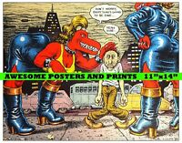 """VERY RARE! Robert Crumb, """"Don't Worry, Everything's going to be Fine"""" Poster"""