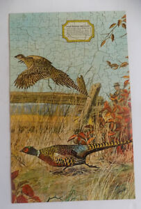 Vintage Hobby Chest Jig Saw Puzzle Ring Necked Pheasant Jaymar Specialty Co