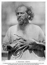 1913 A Hindu Religious Ascetic With Elongated Nails, Unkempt Hair And Beard