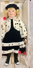 """19"""" PORCELINE DOLL 1494/2500 DESIGNS BY YOKO COMES WITH STAND NEW IN BOX"""