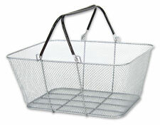 Convenience Store Shopping Super Market Wire Mesh Silver Baskets Lot of 6 New
