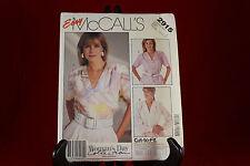Vintage McCall's 2915 Women's Blouse Pattern Size C (10,12,14)