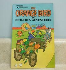 Walt Disney Media ~ The Orange Bird in Nutrition Adventures Comic Book ~ 1980