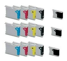 SET 15 CARTUCCE COMPATIBILI STAMPANTE BROTHER  LC970 LC1000 DCP330C MFC 845W KIT