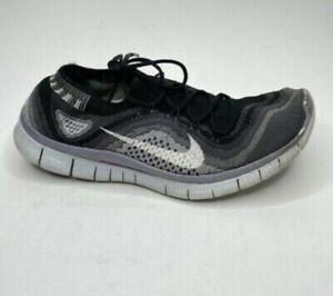 Nike Womens Free Flyknit 5.0 + Grey-Black sz 8.5 [615806-012]