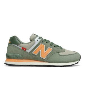New Balance ML574SG2 Trainers Men's Running Shoes Retro Green
