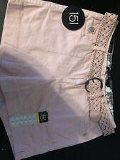 One 5 One Womens Shorts Khaki Brown Braided Belt Size 8 NWT