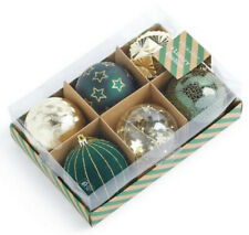 PRIMARK Green & Gold Tree baubles Christmas Decorations Brand New In Box