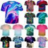 Colorful Tie-Dye Pattern Print Casual 3D T-Shirt Women Men Short Sleeve Tops Tee