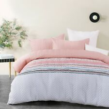King Bed Quilted Printed Quilt Cover Doona Set Cora