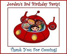 (18) PERSONALIZED Glossy Little Einsteins Party Bag Box Labels,Stickers 3""