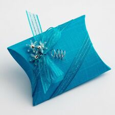 10 Turquoise Silk Bustina- 70x70x25mm - Wedding Favours Boxes