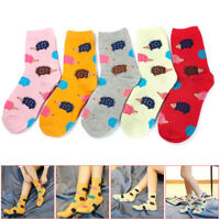 1 Pair Women Winter Cute Animal Pattern Fashion Casual Soft Wool Cotton Socks