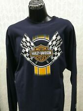 Harley Davidson Men's Racing Stripe Long Sleeve Shirt