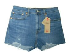 Levi's women's High Rise Distressed denim Shorts size 10 / 30 nwt