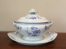 Mottahedeh BLUE PEONY Oval Tureen & Lid with Underplate